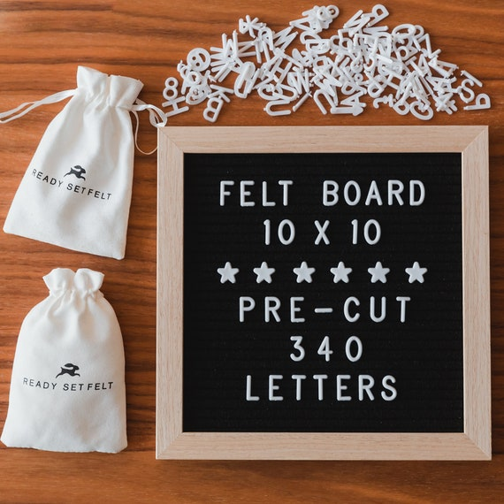 Felt 10x10 Letter Board  With 340 Pre Cut Letters And Emojis by Etsy