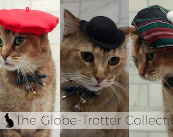 2bc0f92cdde27 The Globe-Trotter Cat Hat Collection of 3 international Cat Hats w  FREE  shipping