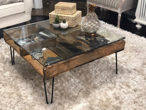 Genial Reclaimed Pallet Coffee Table Mid Century Modern Custom | Etsy