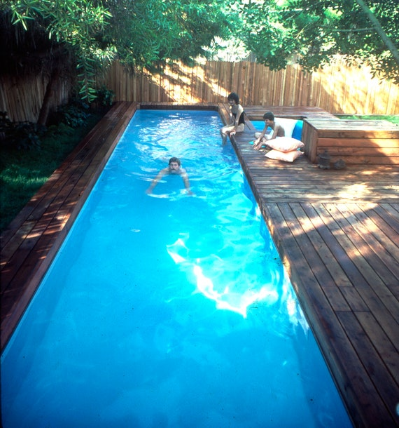 Lap Pool And Spa Plans Diy In Ground Pool Digital Plans Etsy
