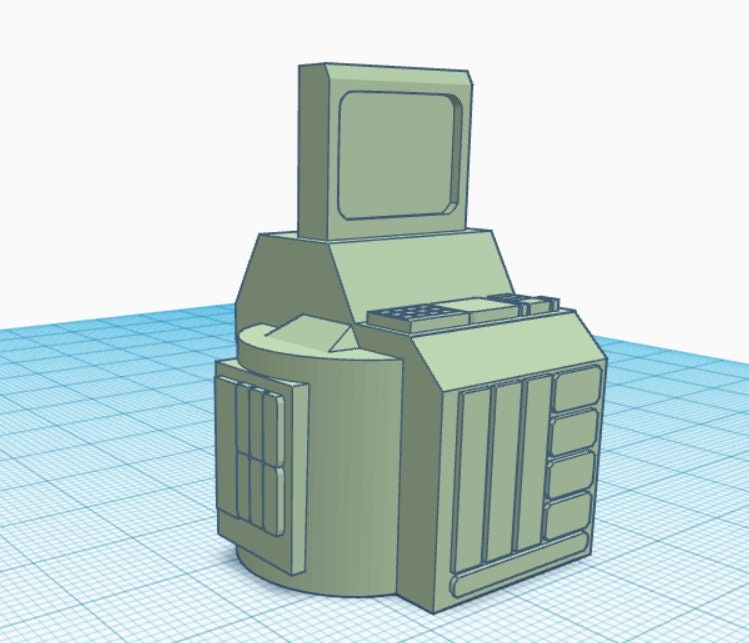 Processing Station (Sci/Fi Future Tech) 3D Printer Model File (for gaming,  etc )