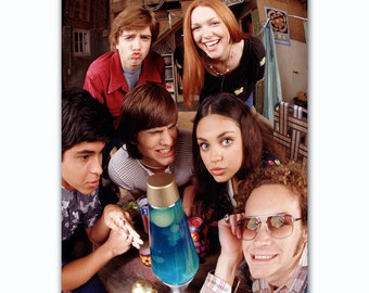 0ce81cfd727e That 70s show TV show cast ashton kutcher funny art poster size  25.78x14.62inch or any other 2018 poster decoration