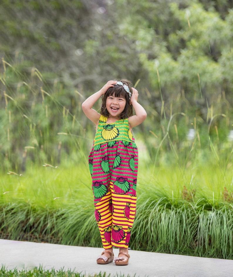 girl Baby Toddler Kids Ankara African Print Girl Jumpsuit