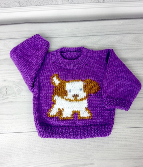 Baby Clothes Knit Kids Sweater Hand Knit sweater,Baby shower gift,0-5T Handknitted Baby Sweater 0 to 12 months Puppy baby Sweater