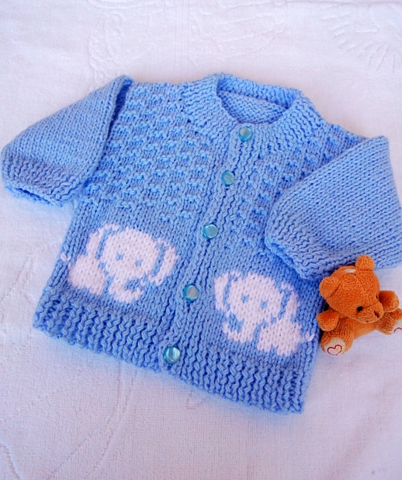 3-6 6-9 Months New Baby Cardigan,Hat Booties Mitten Set Hand Knitted 0-3