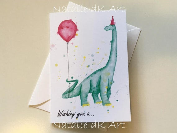 Stupendous Sauropod Birthday Card Dinosaur Card Dinosaur Birthday Card Etsy Funny Birthday Cards Online Fluifree Goldxyz