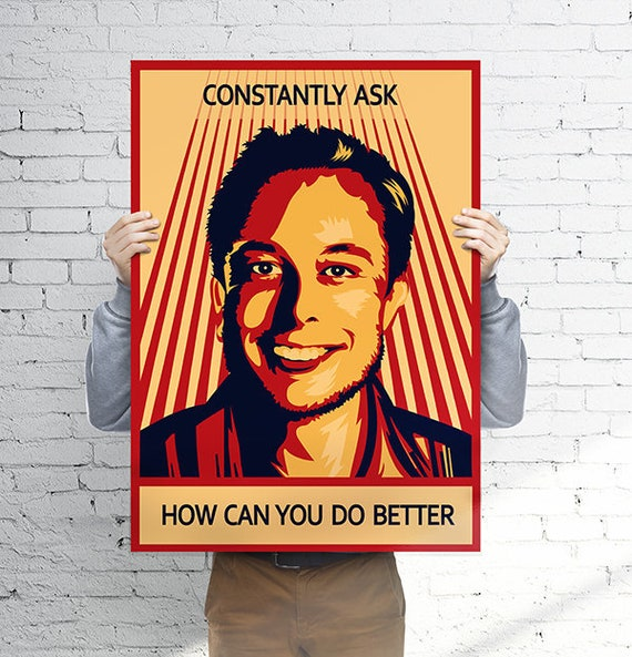 elon musk poster motivational printable art motivation