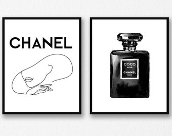 Chanel Wall Art Etsy