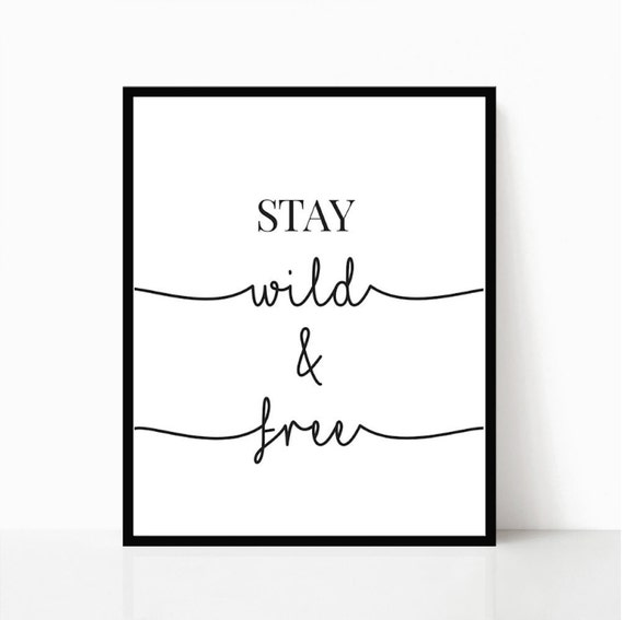 graphic regarding Free Printable Wall Decor named Are living Wild And Cost-free Printable Wall Artwork Reward For Her Bed room Decor Woman Bed room Decor Estimate Print Instantaneous Down load Dwelling Space Artwork