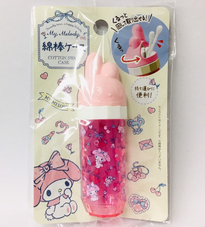Hello Kitty Sanrio Cotton Swab Case Kawai Cute Gift Japan Free Shipping New