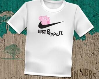 860914c60970 Peppa Pig Inspired by Nike Parody Graphic Tee Custom Design S-2XL