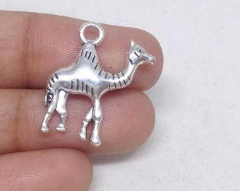 5//50pcs 23x23mm Antique Silver Camel Tibetan Charms Pendants LF