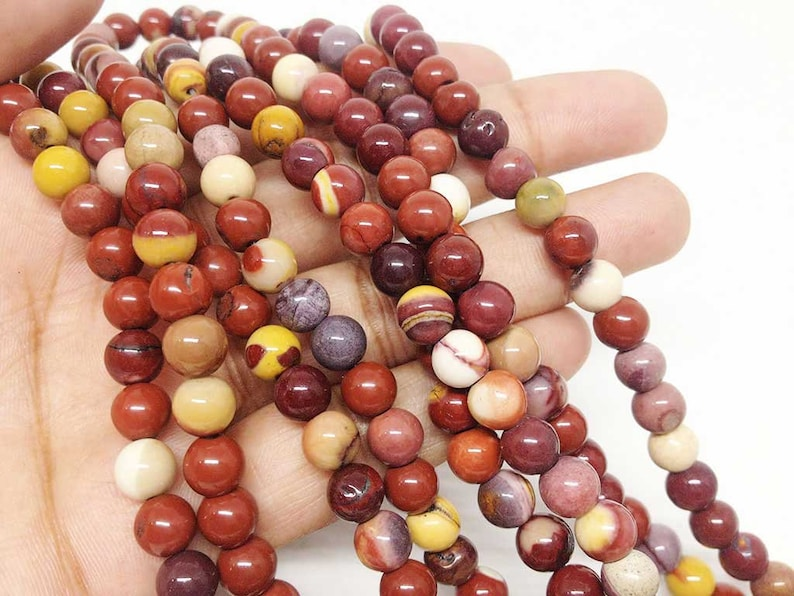 Mookaite 6mm Round Beads ~ 15 Full Strand ~ 62 Beads ~ A Quality ~BR670