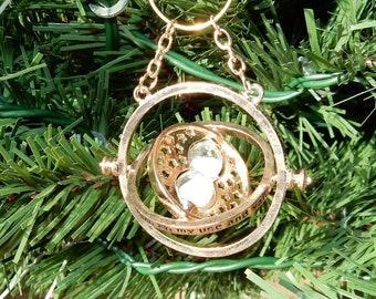 Harry Potter inspired time turner Christmas ornament