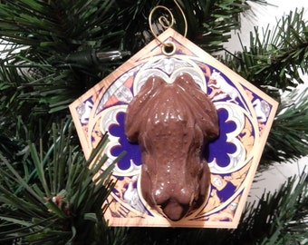 Harry Potter inspired Chocolate Frog card Christmas ornament