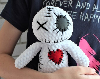 Voodoo doll plush, Goth doll plush, Zombie Creepy Doll, Ritual Spell, HALLOWEEN gift, Horror doll plush, witchcraft