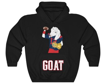 New England Patriots Tom Brady Goat Greatest Of All Time World Champion  Thanos Unisex Heavy Blend Hooded Sweatshirt S5Xl c3fe8bbeb