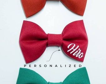 Personalized Bow Ties for Dogs & Cats - Bow Tie Add-On - Wedding Bow Tie - Pet Bow Tie - Cat Bow Tie - Best Dog Bow Tie - Bowtie -