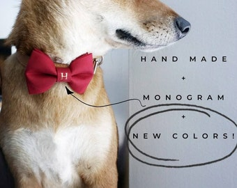 Personalized Bow Ties for Dogs & Cats - Monogram Pet Bow Ties - Bow Tie Add-On - Wedding Bow Tie - Pet Bow Tie - Cat Bow Tie - Dog Bow Tie