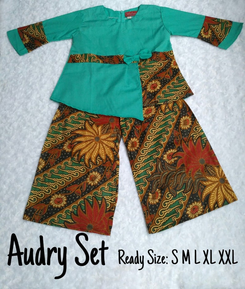 Welans Batik Blouse Kids Audry Set