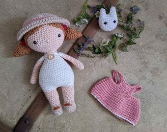 Little japanese girl - crochet doll