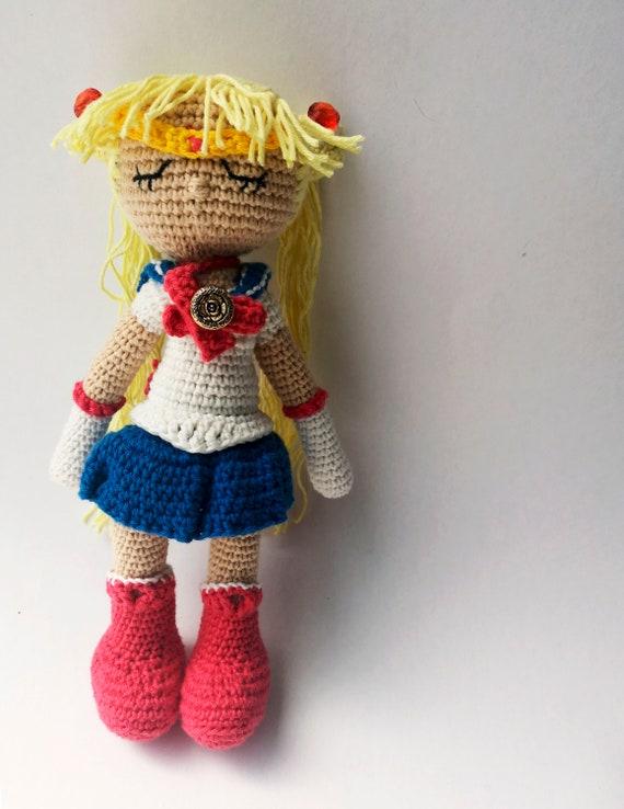 Cute Crescent Moon Crochet Pattern | AllFreeCrochet.com | 738x570