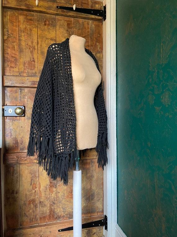 Vintage Edwardian/Victorian Welsh woollen shawl