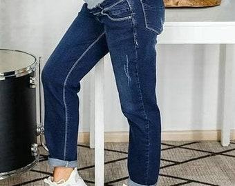 acacd9642099a Maternity jeans boyfriend Pregnancy jeans Maternity pants Pregnancy  trousers Maternity trousers Delivery gown Pregnancy pants Nursing wear