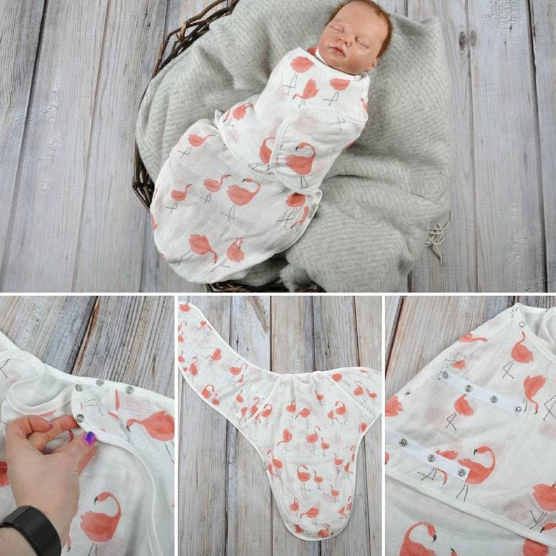 Flower Muslin blanket sack Muslin wrap Muslin cocoon swaddle Muslin newborn cocoon sack Muslin swaddle cocoon Sleeping bag Swaddle muslin