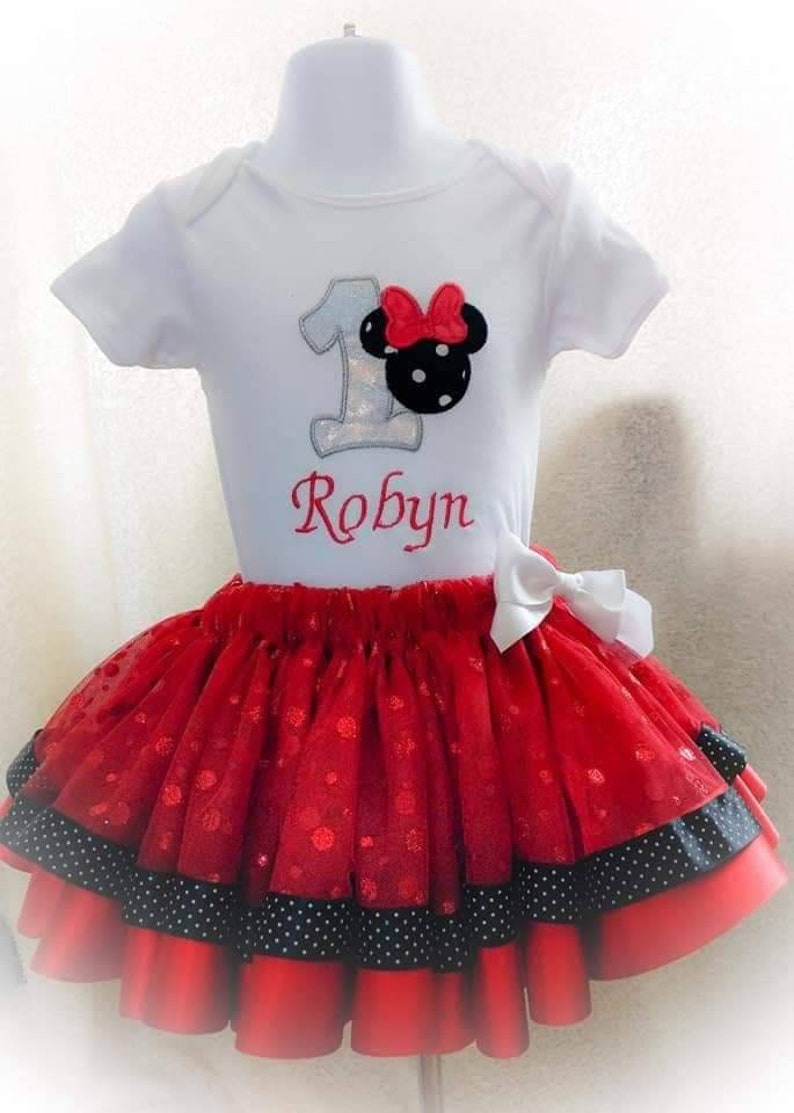 Baby/'s first birthday embroidered vest and tutu