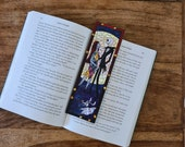 Nightmare Before Christmas Bookmark, Disney, Jack Skellington with Sally and Zero
