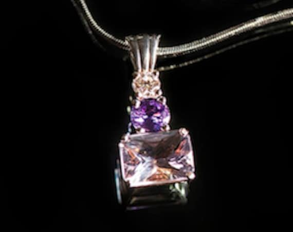 Colored Gemstone and Diamond Jewelry Necklace Pendant