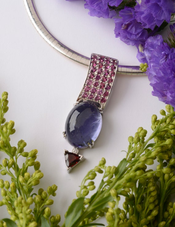 Gemstone Jewelry Statement Pendant Necklace
