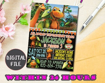 Dinosaur Train Birthday Invitation Party Invite Printable Digital File