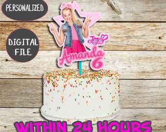 Jojo Siwa Birthday Cake Topper Geburtstags Party Deckel Bedruckbar Digitale Datei Personalisierte