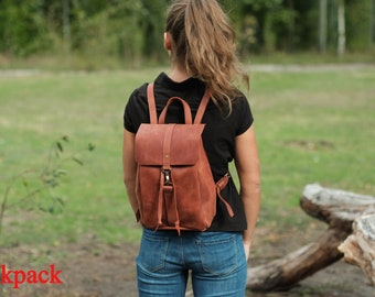 5c3a873fd Women leather backpack Brown backpack Drawstring leather backpack Medium backpack  Small backpack, Backpacks, Bags, Purses, Women's backpack
