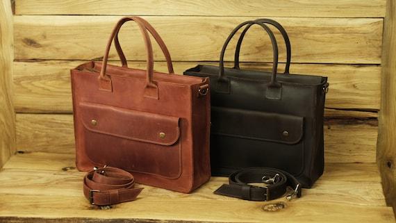 00bc51d9f0c Leather office bag Messenger bag Woman Women briefcase bag   Etsy