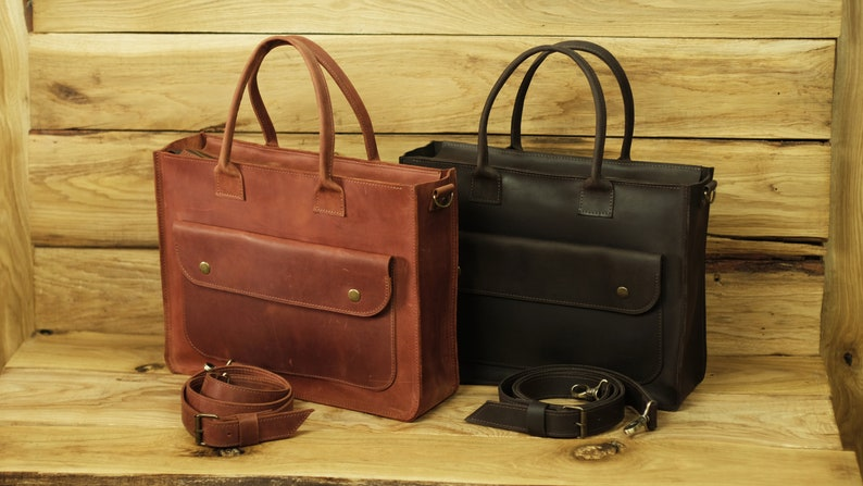 361ad9d6f6 Sac de bureau en cuir sac besace femme sac cartable femme | Etsy