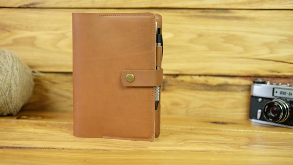 Book cover For notebook 5.9 x 8.3 inch Journal cover Brown cover Notebook cover a 5 Leather cover A5