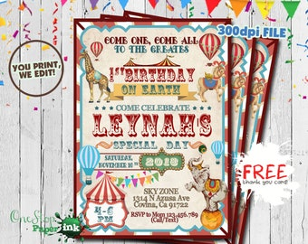carnival theme party invitations etsy