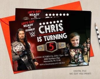 Wrestling Invitation Wwe Birthday Party Invite Smackdown
