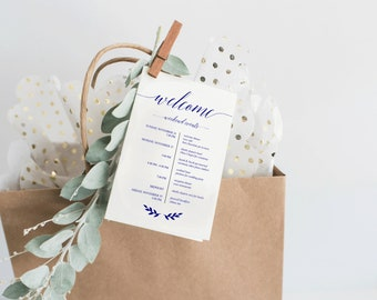 Destination Wedding Itinerary Etsy