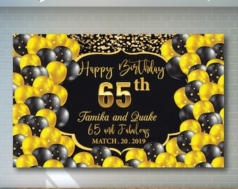 81 65th Birthday Balloons And Banners