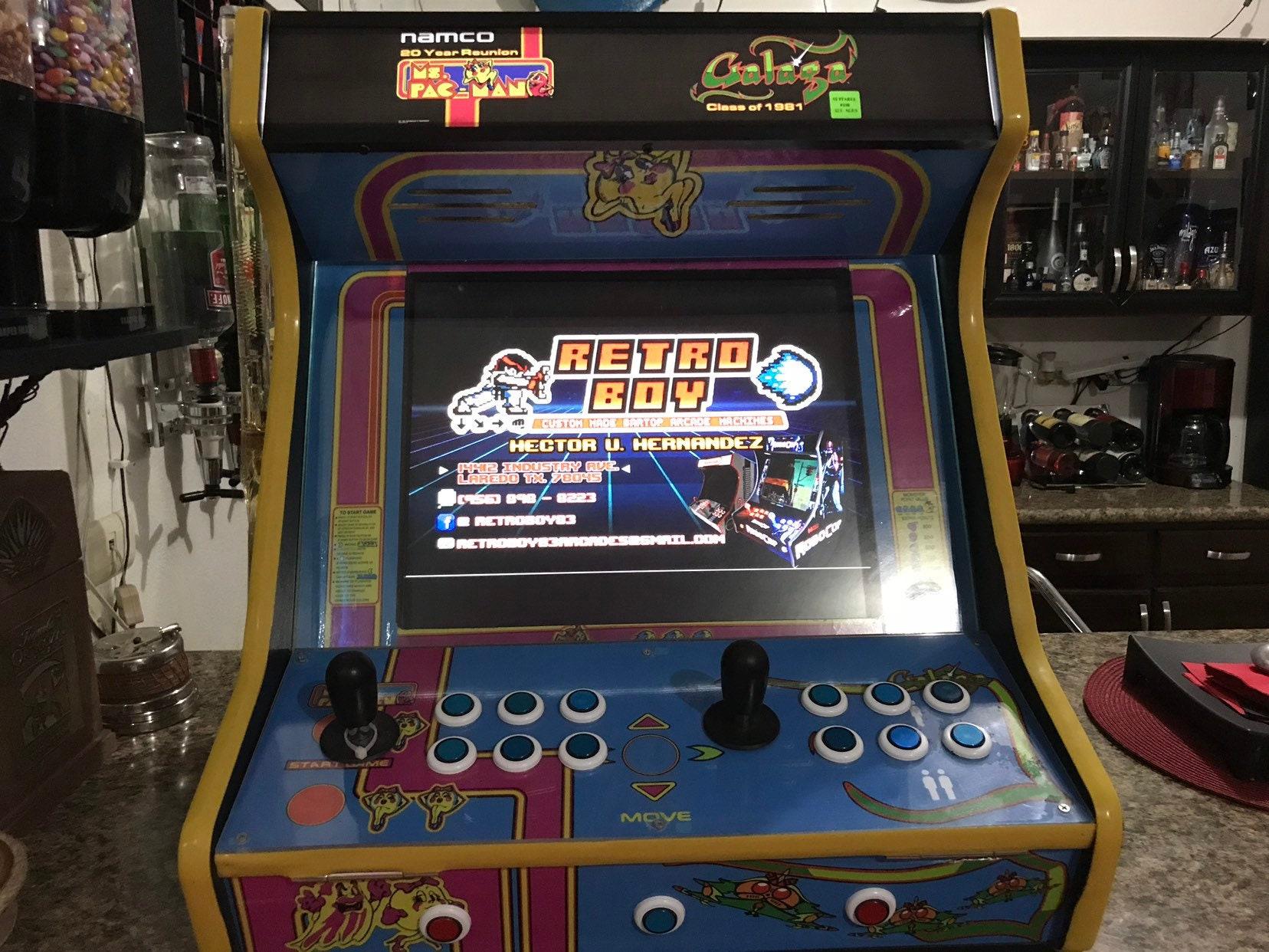Custom Made Ms Pacman Galaga Bartop Arcade Machine Loaded Etsy Wiring Harness