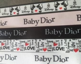 d9d4283c49 Ribbon grosgrain 22 inspired brand disey bayby dior, love
