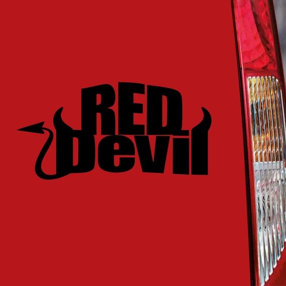 Car Sticker Red Devil Fun Dub Auto Tuning Sticker