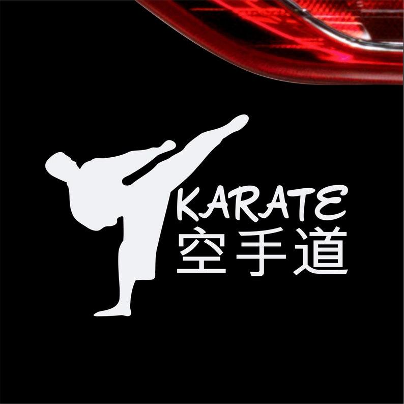 Autoaufkleber I Love Karate Aufkleber Sticker Kampfsport