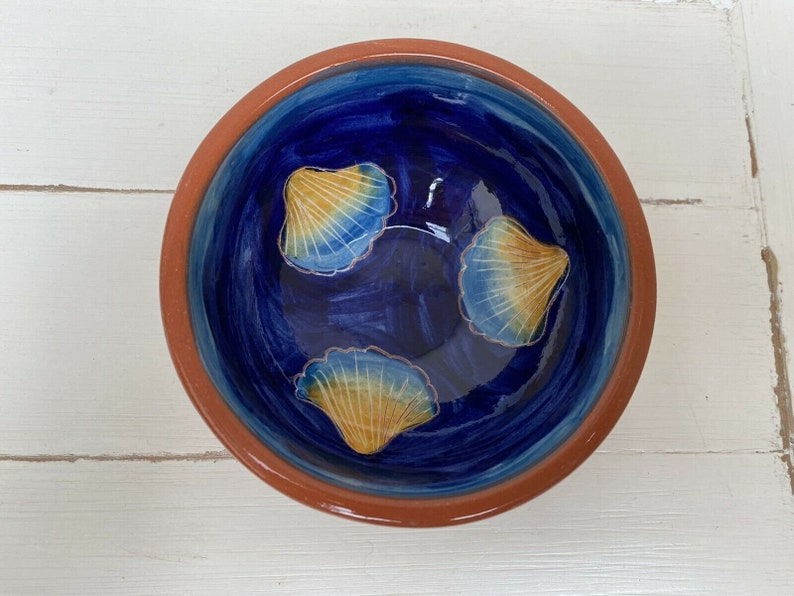 Blue Shell Small Bowl Studio Pottery Portugal