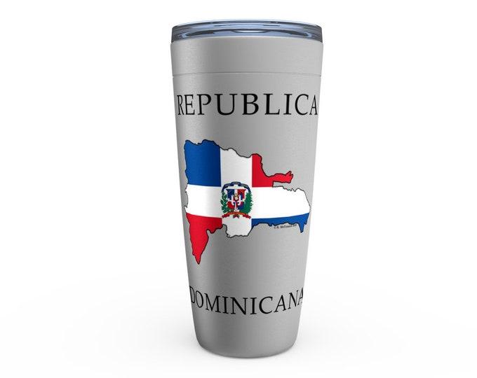 Republica Dominicana Silver Viking Tumbler