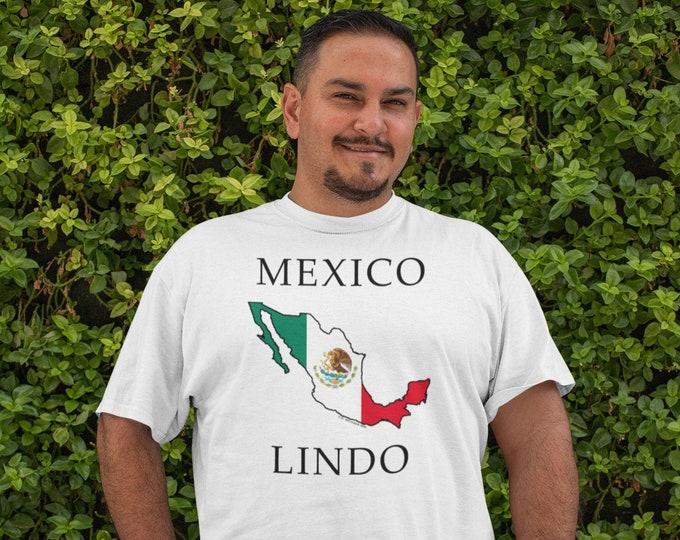 Mexico Lindo -- White, Short sleeve Tee